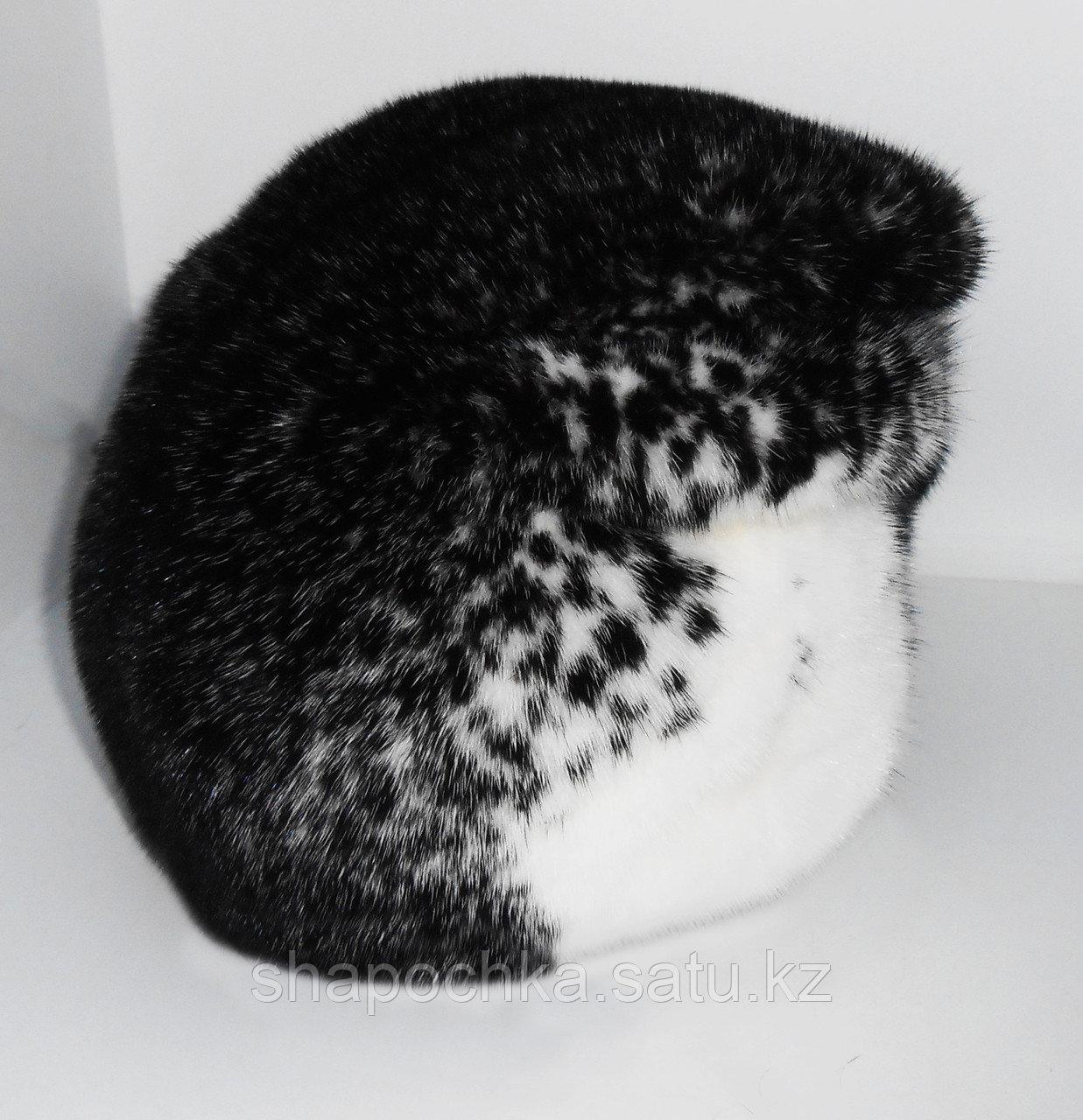 Шапка норка М102-92 крест черная