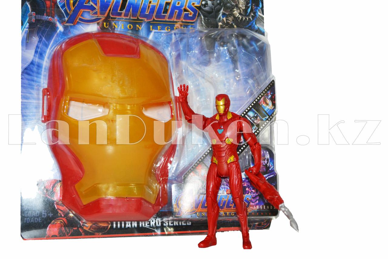 Набор детская маска и фигурка Железный человек 15 см серия Мстители - фото 3