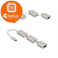 Адаптер (переходник) USB type-C To Displayport to VGA to HDMI cascade Adapter. Конвертер. Арт.5702