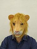 Лев латексная маска для взрослых, фото 2