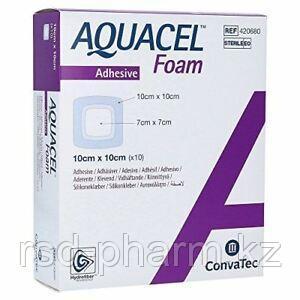 Аквасель Фоум с серебром с силиконовым адгезивом (Aquacel Foam Ag, adh) 8 х8 см