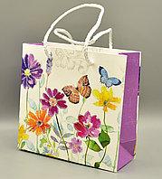 Пакет подарочный, картон, 14*14,5*6 см