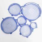 Набор силиконовых крышек натяжных(6 шт)