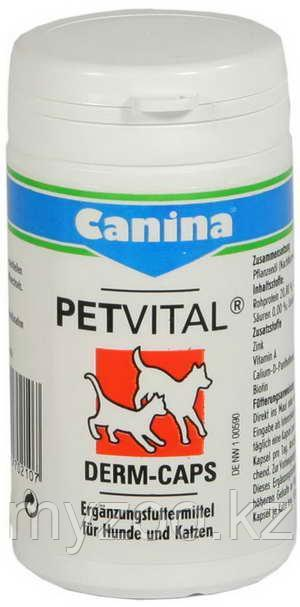 CANINA PETVITAL Derm-Caps, Канина Петвиталь Дерм Капс, витаминный комплекс, 40g (100 t)