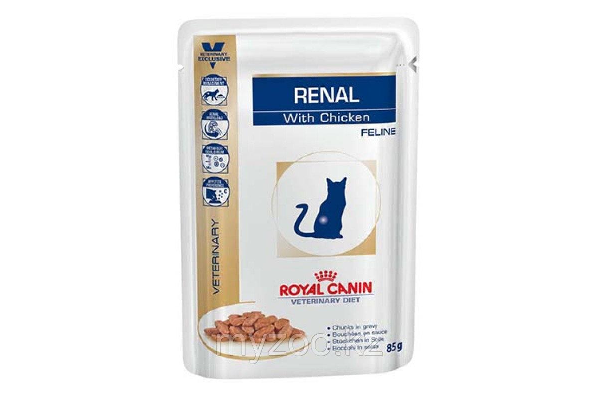 Влажный корм для кошек с болезнями почек Royal Canin RENAL CHI CAT POUCH 1*85 g ( курица )