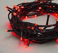 """Гирлянда светодиодная """"Нить"""" - 10 метров, 80 лампочек, красный свет, светит постоянно"""