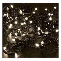 """LED гирлянда """"Нить"""" - 10 метров, 80 лампочек, белый свет, светит постоянно"""