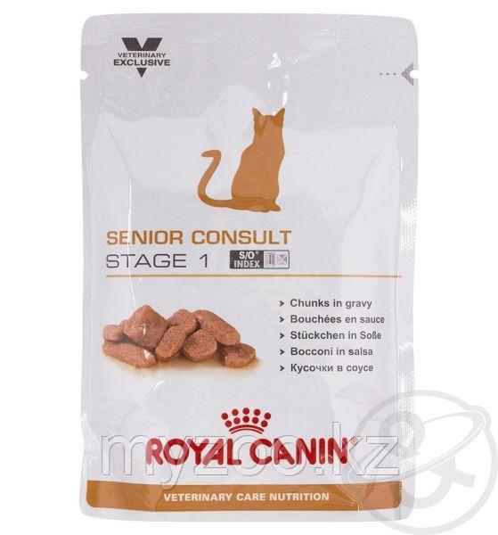 Влажный корм для стареющих кошек Royal Canin SENIOR  CON/ST 1 CAT POUCH 1*100
