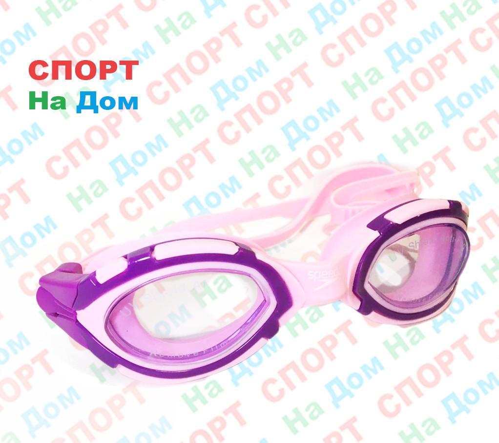 Очки для плавания Speedo (с затычками для ушей, цвет розовый)