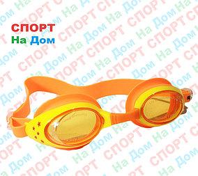 Очки для плавания Speedo (с затычками для ушей, цвет оранжевый)