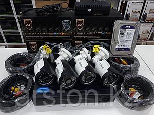 Комплект ahd видеонаблюдения из 4 уличных камер 2мп
