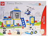"""Конструктор аналог лего дупло lego duplo большие блоки Funny Blocks 188-431 """"Полицейский участок"""", 90 дет, фото 2"""