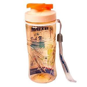 Бутылка питьевая для воды с поилкой MATSU [350, 500, 1000 мл] (Оранжевый / 350 мл)