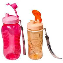 Бутылка питьевая для воды с поилкой MATSU [350, 500, 1000 мл] (Оранжевый / 350 мл), фото 2