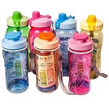 Бутылка питьевая для воды с поилкой MATSU [350, 500, 1000 мл] (Розовый / 350 мл), фото 2