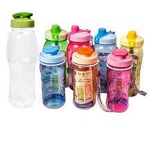 Бутылка питьевая для воды с поилкой MATSU [350, 500, 1000 мл] (Голубой / 1000 мл), фото 2