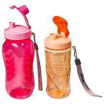 Бутылка питьевая для воды с поилкой MATSU [350, 500, 1000 мл] (Голубой / 1000 мл), фото 3