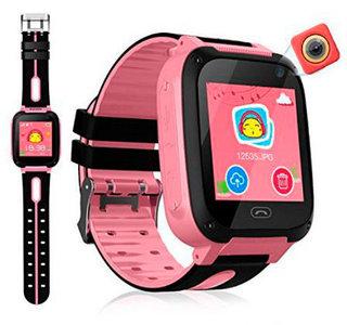 Умные детские часы-телефон с камерой, GPS-трекером и фонариком Smart Watch EDIAL KZ972L (Розовый)
