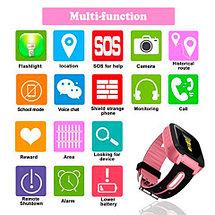 Умные детские часы-телефон с камерой, GPS-трекером и фонариком Smart Watch EDIAL KZ972L (Розовый), фото 2