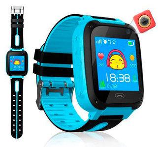Умные детские часы-телефон с камерой, GPS-трекером и фонариком Smart Watch EDIAL KZ972L (Голубой)