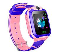 Умные часы детские водонепроницаемые с трекером, камерой и сенсорным экраном Smart Watch Q528 (Розовый)