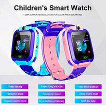 Умные часы детские водонепроницаемые с трекером, камерой и сенсорным экраном Smart Watch Q528 (Голубой), фото 2