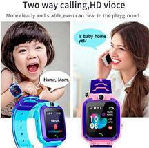 Умные часы детские водонепроницаемые с трекером, камерой и сенсорным экраном Smart Watch Q528 (Голубой), фото 3