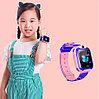 Умные часы детские водонепроницаемые с трекером, камерой и сенсорным экраном Smart Watch Q528 (Голубой), фото 4