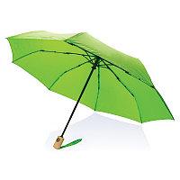 """Автоматический зонт из RPET 21"""", зеленый, , высота 28 см., диаметр 96 см., P850.397"""