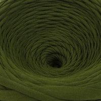 Пряжа трикотажная широкая 100м/320±15гр, ширина нити 7-9 мм (милитари)