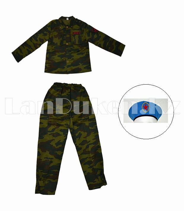 Костюм военный детский камуфляжный зеленый - фото 1