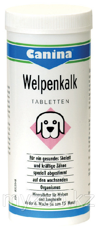 CANINA Welpenkalk, Канина Вельпенкальк, таблетки, уп. 150g (150 табл)