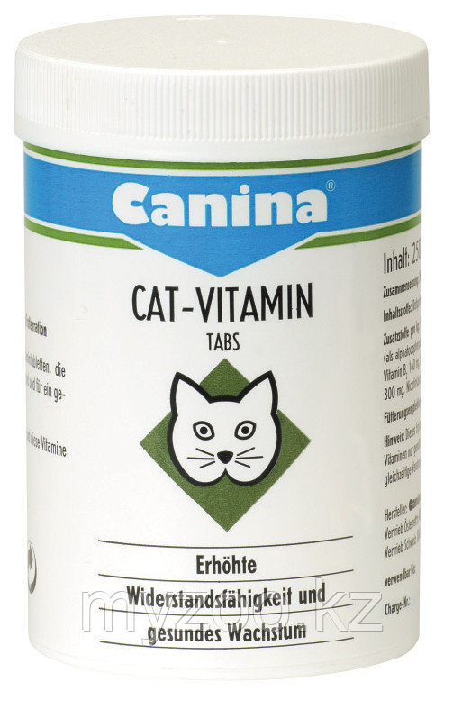 CANINA Cat-Vitamin Tabs, Канина Кат Витамин Табс, витаминный комплекс, уп. 50 гр, (100 tb)