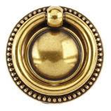Ручка-кольцо, 'Louis XVI' D50мм, золото Валенсия., кругл. накл., винт, 12212Z05000.07