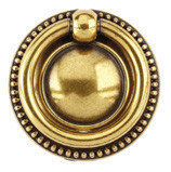 Ручка-кольцо, 'Louis XVI' D40мм, золото Валенсия., кругл. накл., винт, 12212Z04000.07