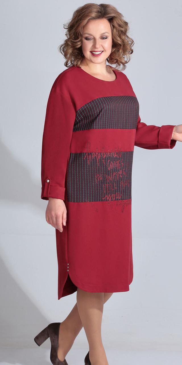 Платье Golden Valley-4633, бордо, 56