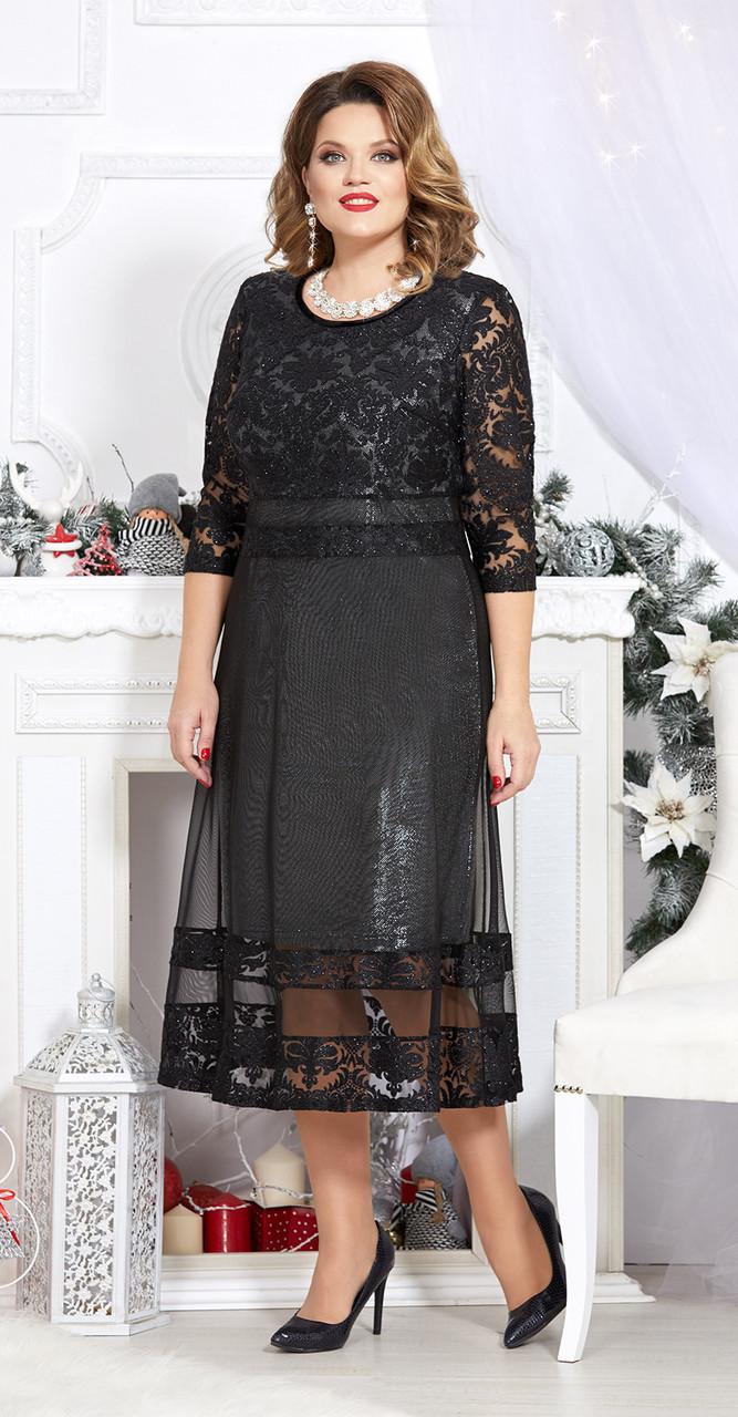 Платье Mira Fashion-4723-2, черный, 50