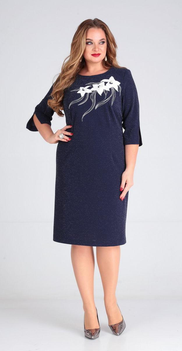 Платье Andrea Style-00241, синий, 52