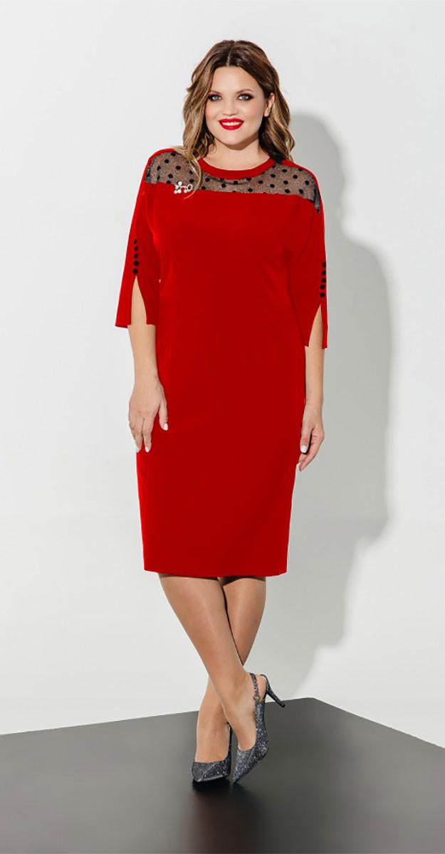 Платье Olegran- Д-618/2, красный, 50