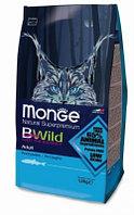 Monge BWild Cat Anchovies, Монже корм для взрослых кошек с анчоусами, уп.1,5кг.