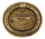 Ручка-кольцо, 'Louis XVI' 66х58мм, латунь пат., овал. накл., винт, 12210.06600.03