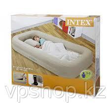 Детский надувной матрас Intex 66810 с бортиками + ручным насосом