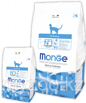 Monge Urinary Cat, Монже сухой корм для профилактики мочекаменной болезни кошек, уп. 1,5кг.