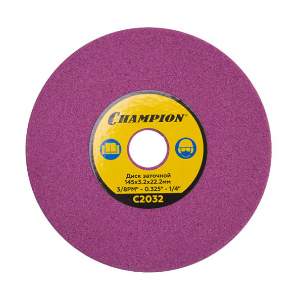 Диск заточный CHAMPION (3\8PM, 0.325, 1\4) 145х3.2х22.2 для станка С2001