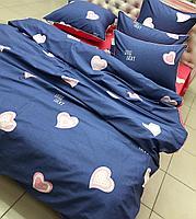 Комплект постельного белья двуспальный VIP-Cotton цветное с сердечками