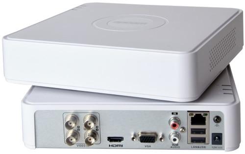 DS-H104UA - 4-х канальный Turbo HD5.0-TVI/CVI/AHD/CVBS гибридный видеорегистратор с разрешением 5MP на канал +