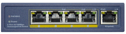 PSD105 - 4-х портовый PoE-коммутатор.