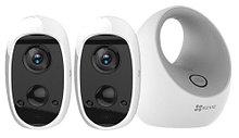 C3A X2 - Автономный комплект видеонаблюдения из двух 2MP-камер C3A и базовой станции W2D.