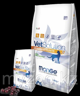 Monge Vet Solution Urinary Struvite Cat, Ветеринарный корм при струвитных камнях для взрослых кошек, уп 1,5 кг