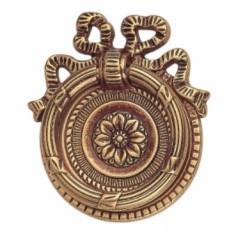 Ручка-кольцо, 'Louis XVI' 62х70мм, латунь пат., фигур. накл., винт, гвоздь 12236.07000.03